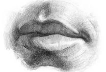 Рисунок губ человека. Picture of lips of the person