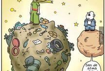 Küçük Prens karikatürleri / Küçük Prens temalı karikatürler