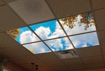 Waiting Room Ideas / Artificial Sky LED Skylights create a fun and relaxing environment using the latest LED technology and the largest sky and cloud images on Earth unlike competitors whose images are fuzzy and blurry at these enormous sizes.