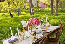 DESIGN:  Tablescapes  / Includes table settings, table centerpieces, place settings