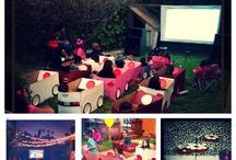 Outdoor Movie Birthday Party