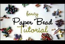 Paper bead tutorials