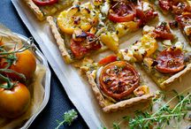 T O M A T O E S / Heirloom tomato recipes : tomato salads, homemade tomato sauce, tomato tarts and more  / by Todd & Diane (White On Rice Couple)