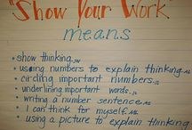 Math:  anchor charts & posters / by Rebecca Robbins