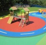 Surfacing / The Schoolscapes range of Safety Surface ensures that your play area complies to the safety requirements of BS/EN1177. It can also enhance the play value of any outdoor space, enabling children to play outside in a clean, safe environment throughout the year.