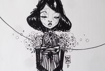 """Coppola / art +++ illustration  """"Tell me lies, Tell me Sweet little lies""""  Little Lies - Fletwood Mac"""