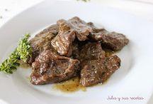Recetas: carnes (pollo, ternera, cerdo,...)