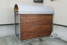 自転車の収納庫