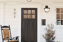 Curb Appeal / before and after, on a budget, Landscape, sidewalk, ideas, DIY, front yard, entryway, exterior, garage, porch, ranch home, farmhouse, driveway, walkway, ewast, fixer upper, plants, modern