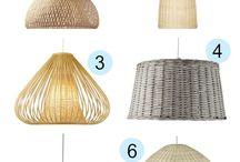 lamparas  fibras naturales