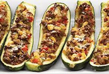 Zucchini boats with meat