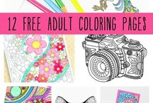 ADULT  COLOUR IN PAGES