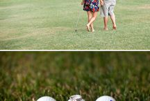 Golf engagement pics