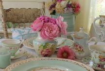 pretty cup & plates