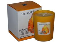 Tranquil Earth Watercolour Natural Soy Scented Candles / Tranquil Earth's Watercolour Collection brings you nine luxury scented candles, infused with sensual fragrances and contained in a vibrant coloured glass depicting the individual scent.  Each scented candle is made with 100% soy wax, unbleached cotton wick and scented with an essential oil infused fragrance with incredible scent throw as well as a great potpourri fragrance when the candle is not lit.