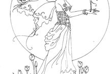 Adult coloring pages, fantasy
