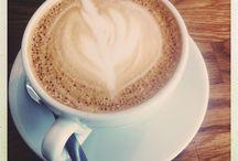 I love Flatwhite / coffee, milk foam design, cups
