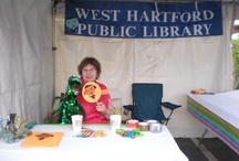 Celebrate! West Hartford 2012 / We had a blast at Celebrate! West Hartford this past weekend, June 9-10th 2012. We made fans with Little Noah on them, and we had our graffiti boards available for everyone to sign and tell us what they did @ the library! They're currently on display at the Noah Webster Library, 20 S. Main St. West Hartford, CT, so come and see them! / by West Hartford Libraries