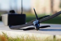 SmartPlane PRO FPV - fixed wing airplane drone with first person view / This is the first app controlled FPV airplane. It is made of a special material called DURINUM. This makes the plane ultra durable and fun to fly.