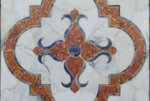 Mosaics by CoorItalia / Handmade and antiqued terracotta inlaid stone tiles, mosaics and medallions.