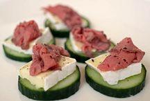 komkommer met brie en rosbief