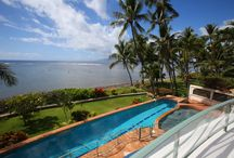 NEW LISTING! Blue Sky Villa – Lahaina, Maui / Enjoy a private oceanfront getaway near Lahaina Town on Maui. Located on Front Street, and able to accommodate up to 10 guests, Blue Sky Villa is perfect for a family vacation, couples' vacation, or a honeymoon getaway! This spacious home offers gorgeous views of the ocean, a large lanai with a jetted Jacuzzi, and a pool that runs the length of the property. Stunning architectural details abound. Contact us today to book your stay at this elegant oasis of calm in Lahaina today!