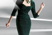 vestidos de veludo