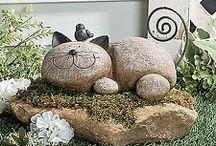 Zahrada - dekorace / sochy, kameny