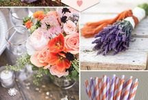 Purple Wedding Color Palettes / Inspiration for purple color palettes and themes for planning and decorating your wedding.