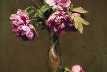 Fantin / love the walls behind flowers