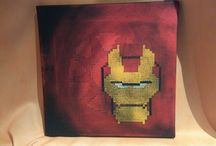 Pixel Heroes / Acryl, Paintings, on Canvas