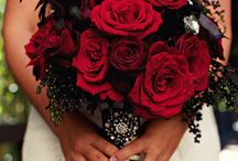 black and rose gold wedding decor