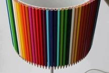 abajur lápis cor