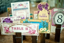 Table Numbers/Names / by Emily Edwards at Your Heart's Desire
