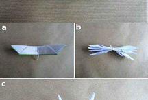 origami kağıt tan gül yapma