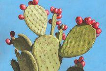 cacti paintings