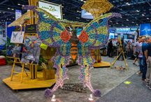 """Custom Woven Art Sculptures / If you can dream it, we can theme it!"""" amaZulu partners with artisans around the world who can weave in Natural and Synthetic materials, framed in aluminum or steel. Scroll through some of our projects below."""