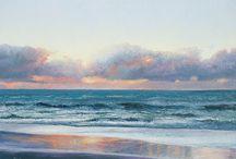 beautiful sunset watercolour