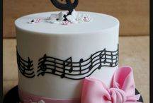 Music themed cakes