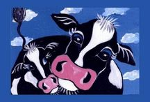 Cow Cards / Simply Bovine has Cow Cards for birthdays, Christmas, get well, thank you, good luck, mother's day and father day cards also.