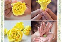 flores con masilla