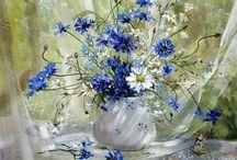 Peinture bleu
