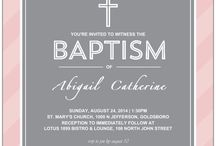Religious Events / baptism, christening, communion, confirmation invitations and designs