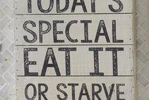 Kitchen Black Board Sayings