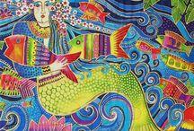 Laurel Burch Art