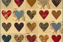 Heart quilts