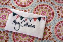 Sewn Name Tags / by Jennifer L.