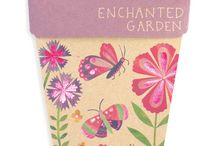 Children's Collection / Our shiny new Enchanted Garden and Bug Wonderland Gift of Seeds. For nature lovers and budding green thumbs young and old, these packs contain a mix of easy to grow flowers that will produce delightful displays of colour as well as attracting bees, butterflies and beneficial bugs to the garden. http://sownsow.com.au/shop/childrens-gifts-of-seeds-set-of-4/