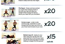 workouts / Be fit! Be healthy! Examples of workouts. You can do at home!