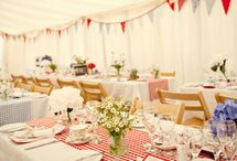Red Gingham Wedding Styling / Red gingham wedding styling